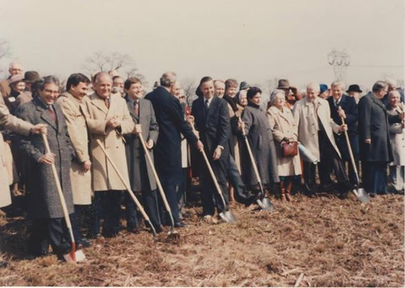 Members of the founding Board of Directors. Bill and Sylvia Strasburg are in the center.