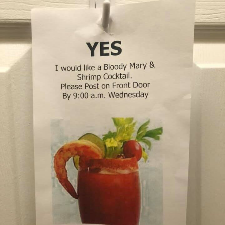 Bloody Mary and shrimp cocktail