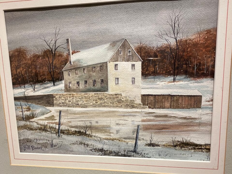 Painting of mill
