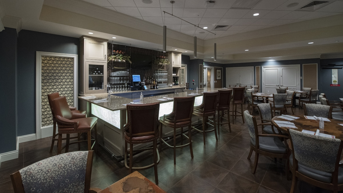 view of bar at Bistro